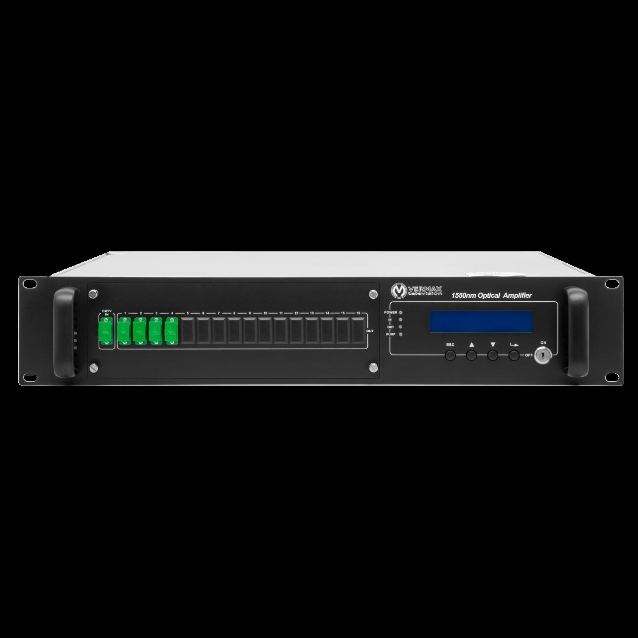 Оптический усилитель VERMAX для сетей КТВ, 4*19dBm выхода, WDM фильтр PON