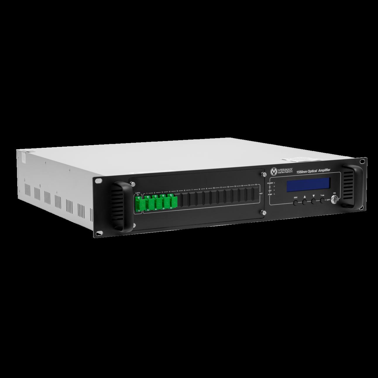 Оптический усилитель VERMAX для сетей КТВ, 4*23dBm, WDM фильтр PON