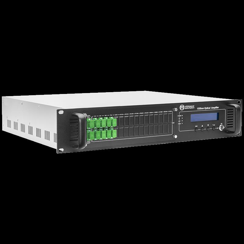 Оптический усилитель VERMAX для сетей КТВ, 2 входа, 8*18dBm выходов