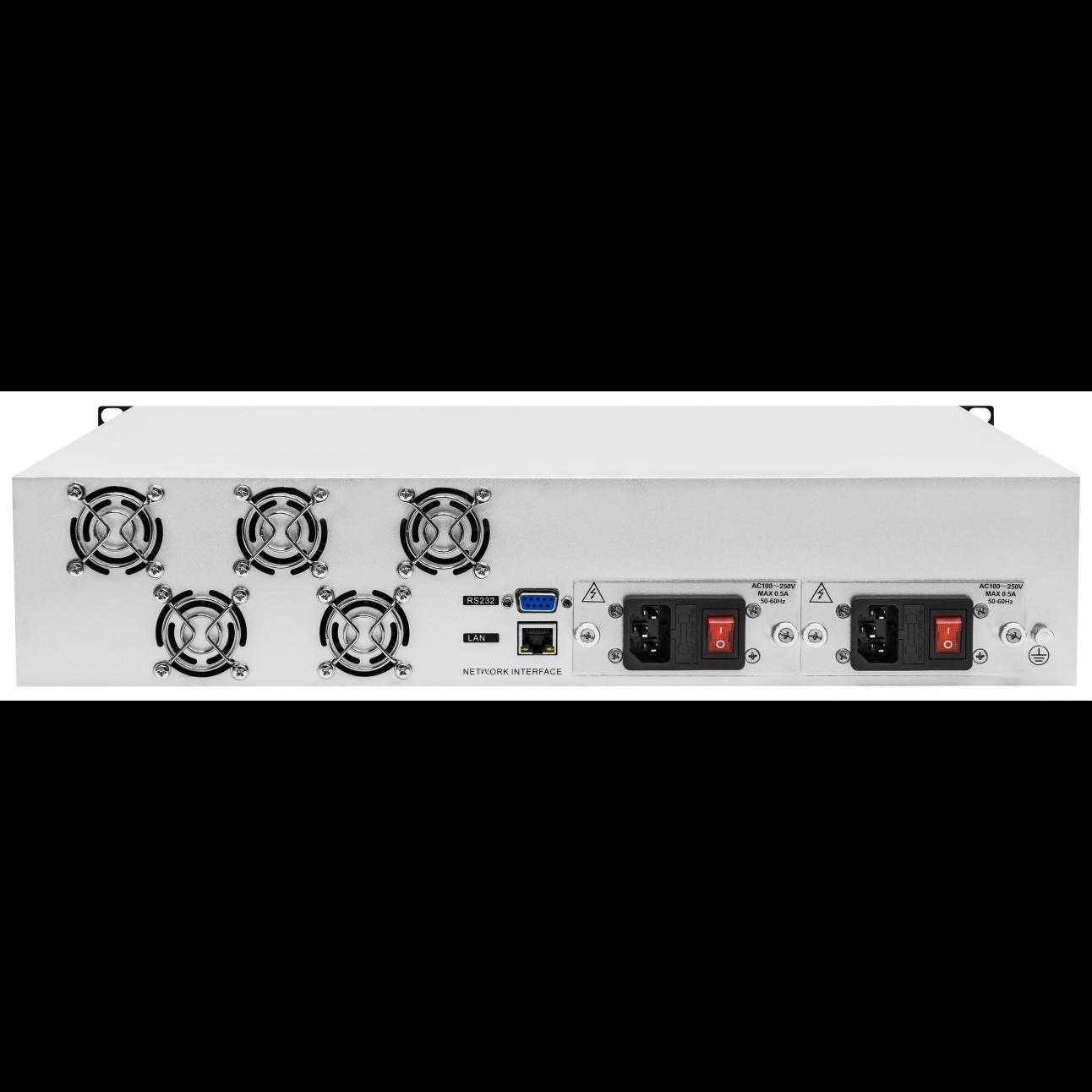 Оптический усилитель VERMAX для сетей КТВ, 2 входа, 8*22dBm выходов, PON фильтр