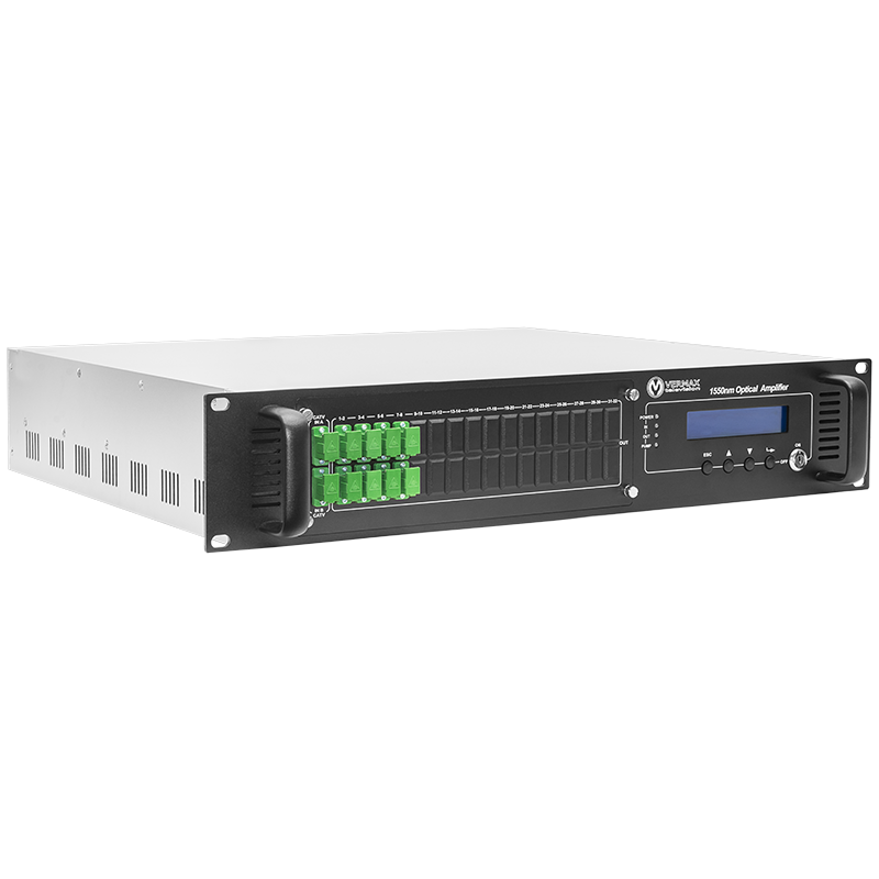 Оптический усилитель VERMAX для сетей КТВ, 2 входа, 8*23dBm выхода