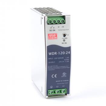 WDR-120-24 Блок питания на DIN-рейку, 24В, 5А, 120Вт Mean Well