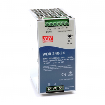 WDR-240-24 Блок питания на DIN-рейку, 24В, 10А, 240Вт Mean Well