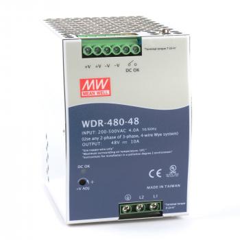 WDR-480-48 Блок питания на DIN-рейку, 48В, 10А, 480Вт Mean Well