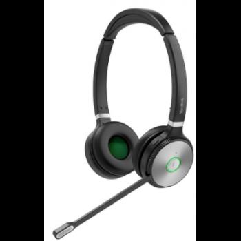 WH62 Dual UC Дуо, Беспроводная, HD звук, 160м DECT, Шумоподав, USB-хаб