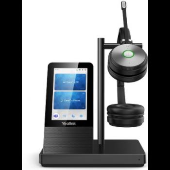 WH66 Dual UC Дуо, Беспроводная, HD звук, 160м DECT, Шумоподав, Дисплей 4'', USB-хаб, Bluetooth
