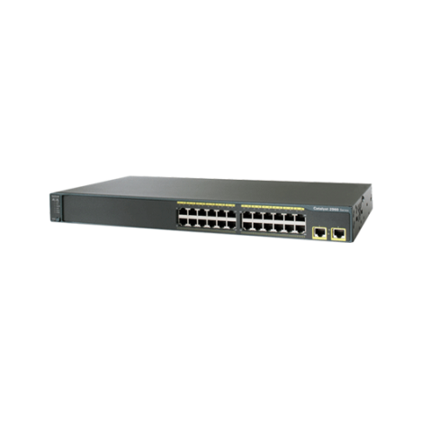 Коммутатор Cisco Catalyst WS-C2960-24TT-L (некондиция, 1 неисправный порт RJ-45)