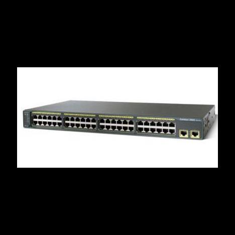 Коммутатор Cisco Catalyst WS-C2960-48TT-L (некондиция, повреждения лицевой панели)