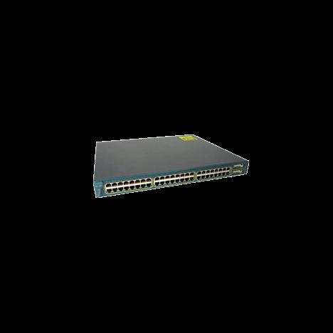 Коммутатор Cisco Catalyst WS-C3550-48-SMI (некондиция, повреждение лицевой панели)