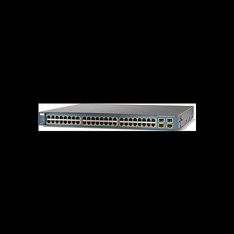 Коммутатор Cisco Catalyst WS-C3560-48PS-S (некондиция, 2 неисправных порта RJ-45)
