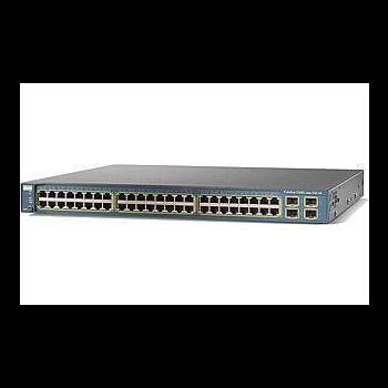 Коммутатор Cisco Catalyst WS-C3560-48PS-S (некондиция, 1 неисправный порт RJ-45, косметические повреждения)