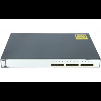 Коммутатор Cisco Catalyst WS-C3750G-12S-S  (некондиция, неисправен разьем STACK1)