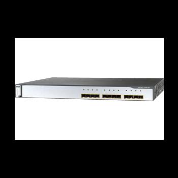 Коммутатор Cisco Catalyst WS-C3750G-12S-S  (некондиция, сломаны защелки крепления на 4 портах SFP)