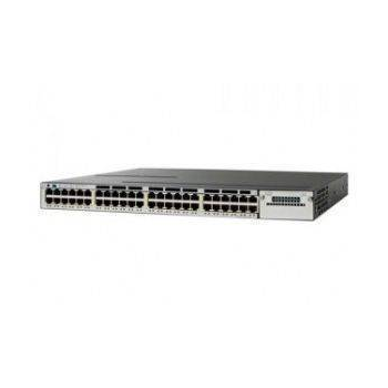 Коммутатор Cisco Catalyst WS-C3750X-48P-S (некондиция, один порт не работает на скорости 1000Mb/s)