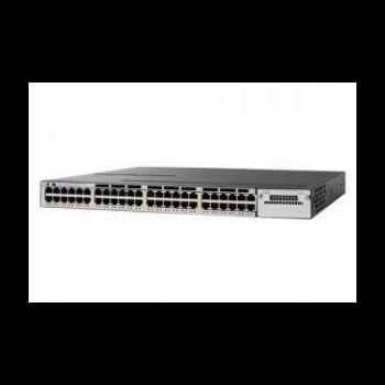 Коммутатор Cisco Catalyst WS-C3750X-48P-S (некондиция, отсутствует одно крепление модуля аплинка)