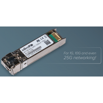 Комплект модулей Mikrotik SFP/SFP+/SFP28, дальность до 15км, 1270nm + 1330nm, SM, LC