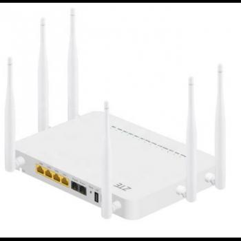 Абонентский терминал ZTE ONT GPON, 4 порта 10/100/1000Base-T, 2 порта POTS, 2,4/5ghz  WiFi, USB