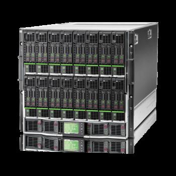 Блейд-система HP c7000, 8 блейд-серверов BL460c Gen8: 2 процессора Intel Xeon 8C E5-2660 2.20GHz, 48GB DRAM, 2x300GB SAS