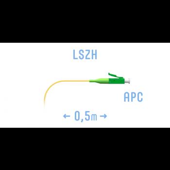 Пигтейл LC/APC SM (0.9) 0,5 m