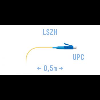 Пигтейл LC/UPC SM (0.9) 0,5 m