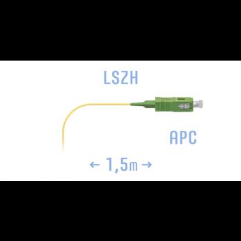 Пигтейл SC/APC SM (0.9) 1.5 метра
